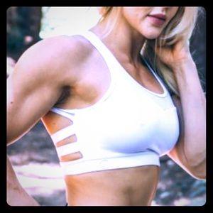 Ence Wear white sexy sports bra